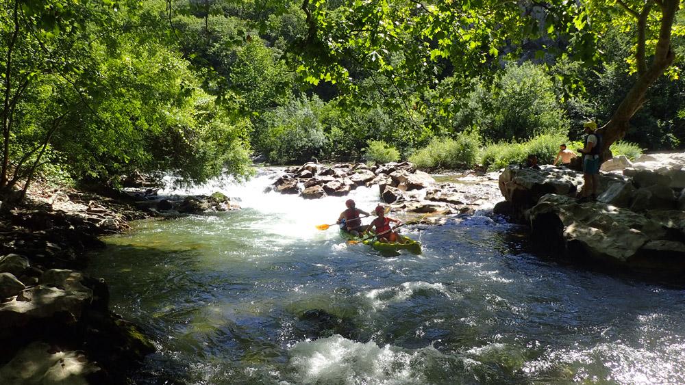 location de canoë et kayak, descente des Gorges de l'Hérault